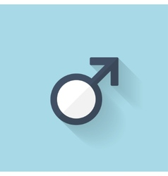 Flat web internet icon male symbol vector
