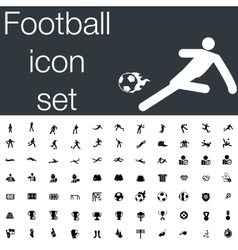 Football icon set vector image vector image