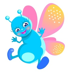 Happy butterfly vector