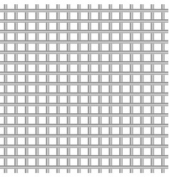 metal grid texture on white background vector image