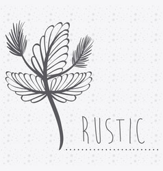 rustic flowers plants decoration design vector image