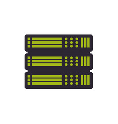 Server hosting technology vector