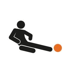 Simple sliding tackle football soccer sport vector