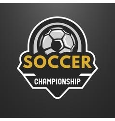 Soccer sports logo label emblem vector