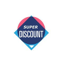 Super discount isolated sticker vector