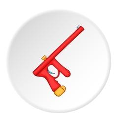 Paintball gun icon cartoon style vector image