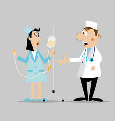 Doctor and the nurse character vector