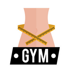 Gym lose weight sport card vector