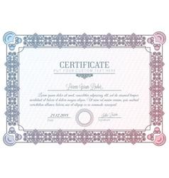 certificate diploma vector image