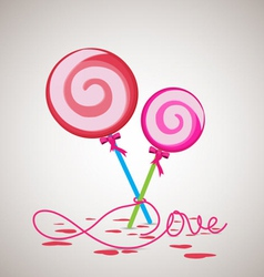 Sweet candy valentine gift vector
