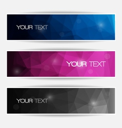 Abstract polygonal banners set vector