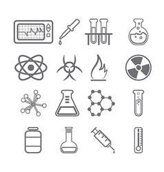 Science icons black series vector