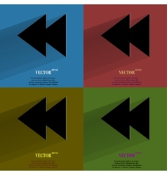Color set multimedia control flat modern web vector