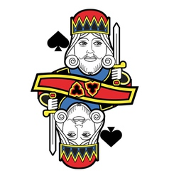 Stylized King of Spades no card vector image