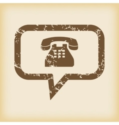 Grungy phone message icon vector