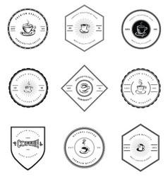 Vintage Coffee Badges vector image