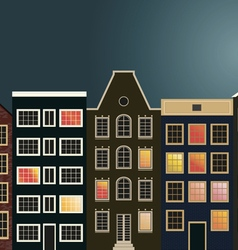 Houses on the street in holland vector