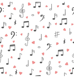 I love music music seamless pattern background vector