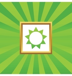 Sun picture icon vector