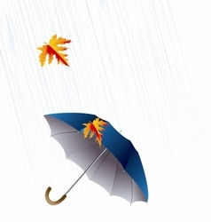 Umbrella and rain autumn icon minimalistic style vector