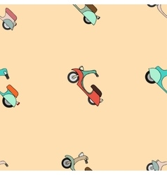 Seamless texture with color scooters vector