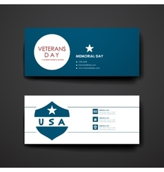 Set of modern design banner template in veterans vector