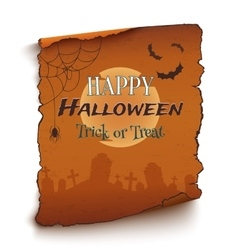 Happy halloween background template vector