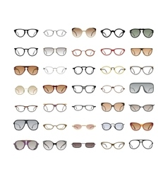 Color Sunglasses on white background vector image
