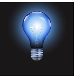 Light bulb on blue background vector