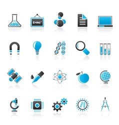 Science Research and Education Icons vector image