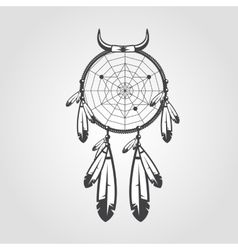Indian dream catcher isolated on white background vector