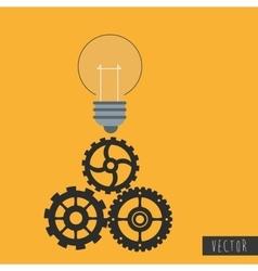 light bulb icon design vector image