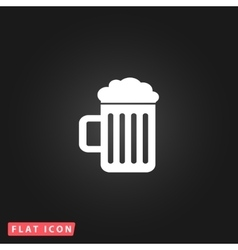 Beer mug flat icon vector