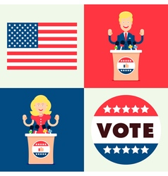 Usa election set vector