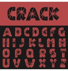 Cracked creative letters vector