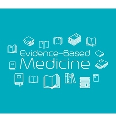 Evidence-based medicine concept vector