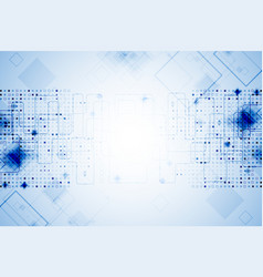 Abstract blue technological background vector