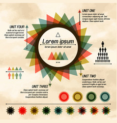 abstract pie diagram infographic vector image vector image