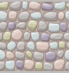 cartoon colored stone texture seamless vector image vector image