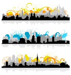 Cityscape skyline panorama vector
