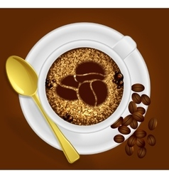 Cup of coffee with the sign vector image