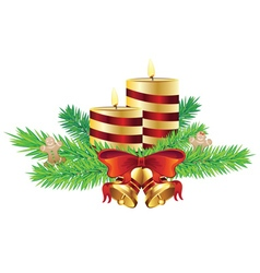 Decorative christmas candle vector