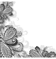Decorative floral graphic vector