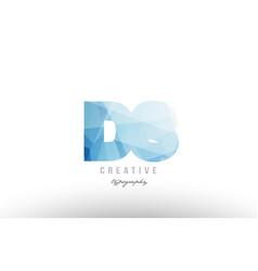 Ds d s blue polygonal alphabet letter logo icon vector