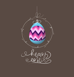 Easter eggs label card vector