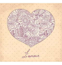Flowers in a heart vector image vector image
