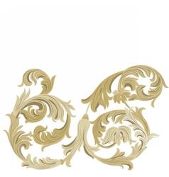 Golden classic ornament element vector
