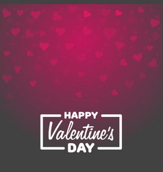 greeting card happy valentines day lettering with vector image vector image
