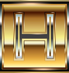 Ingot Font Letter H vector image