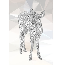 Line geometric of deer vector